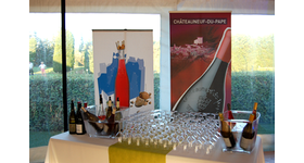 Châteauneuf-du-Pape Partner during the Pro AM Golf Grand Avignon