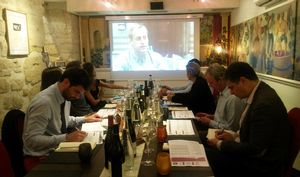 Presentation of the winners of the Saint Marc wine competition in Paris on 14 June