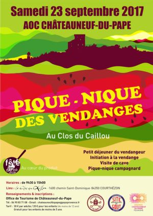 23 Sept: Harvest picnic at Le Clos du Caillou