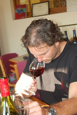 American wine critic Jeb Dunnuck in Châteauneuf-du-Pape